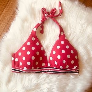 Cole of Ca. Halter Bikini XL Polk a Dot Pink Swim
